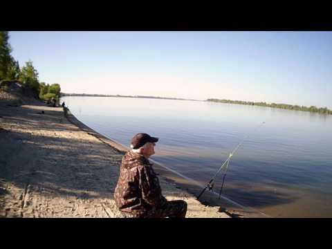 Рыбалка р.Обь, удачливый рыбак, июнь 2017г.(HD).