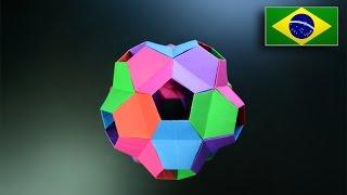 Origami: Kusudama Tartaruga - Instruções em Português PT-BR