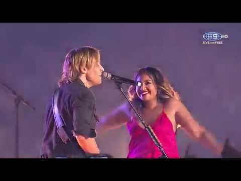 Keith Urban & Jessica Mauboy - The Fighter (Live NRL GF 2016)