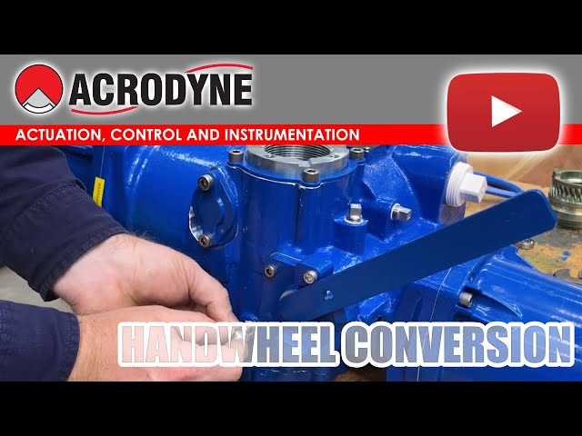 Limitorque MX10 Electric Actuator Hand Wheel Conversion