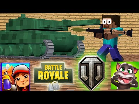 Monster School : SEASON 2 - FORTNITE  - WOT - Subway Surfers - Talking Tom in Minecraft Animation