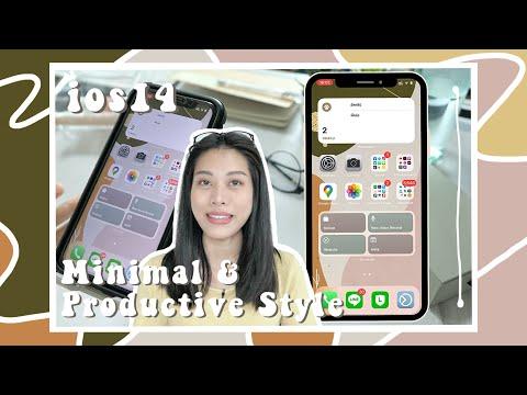 แต่ง iPhone ให้เป็นระเบียบด้วย widget ใน ios14 | สไตล์มินิมอล เน้นการใช้งาน ให้ชีวิต Productive