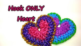 Hook ONLY Heart Tutorial by feelinspiffy (Rainbow Loom)
