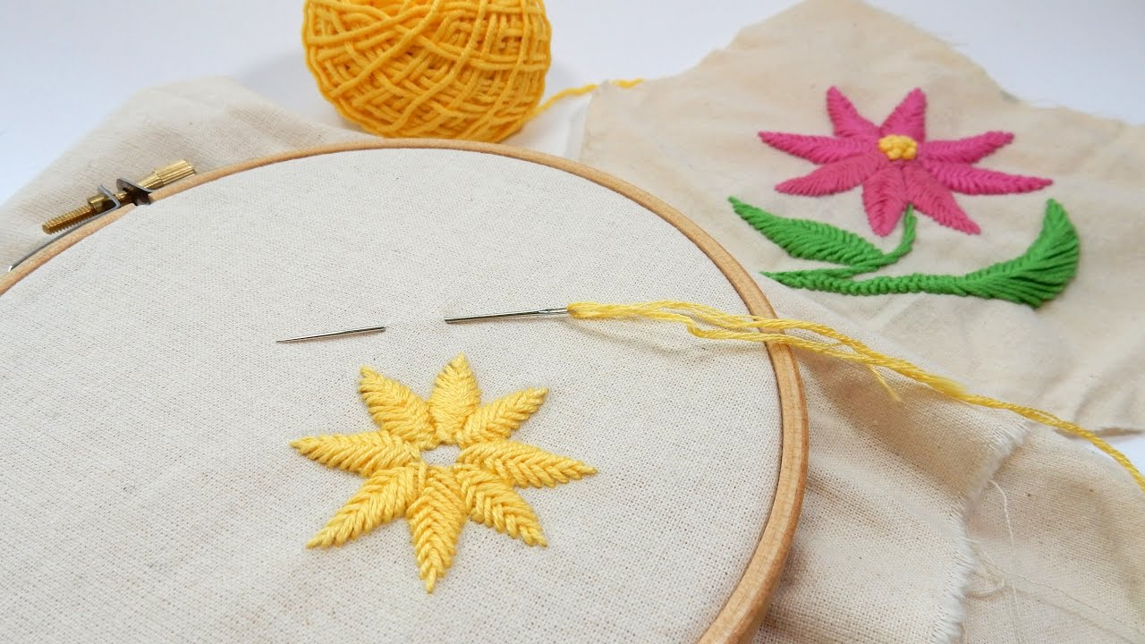 Beginner Embroidery   Raised Fishbone Stitch