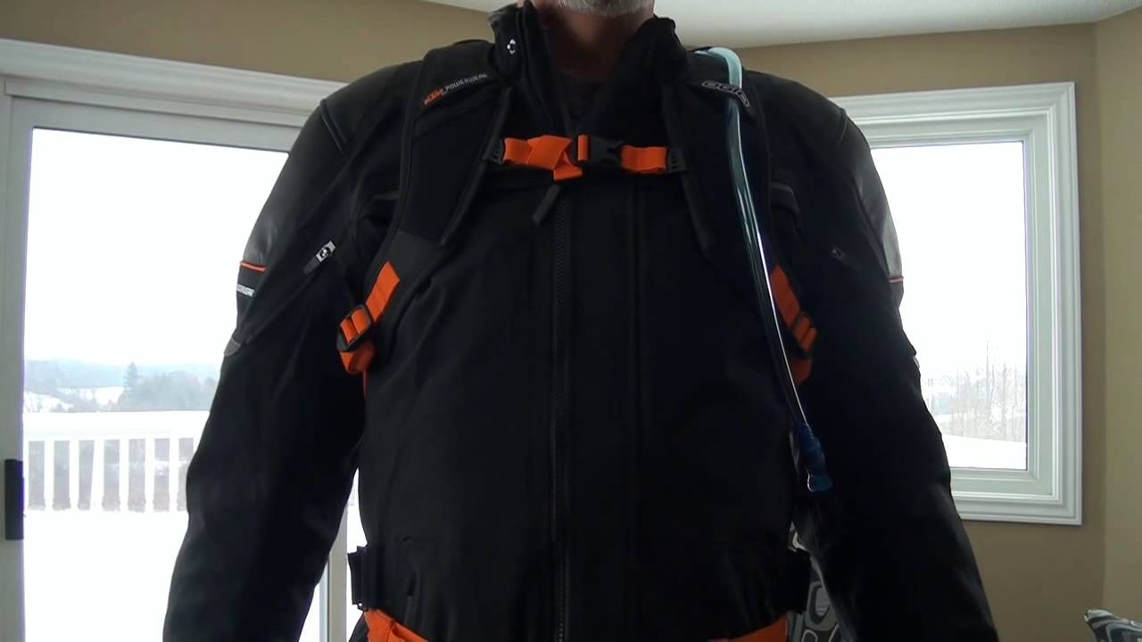 ktm hq adventure jacket sympatex and hydration pack combined