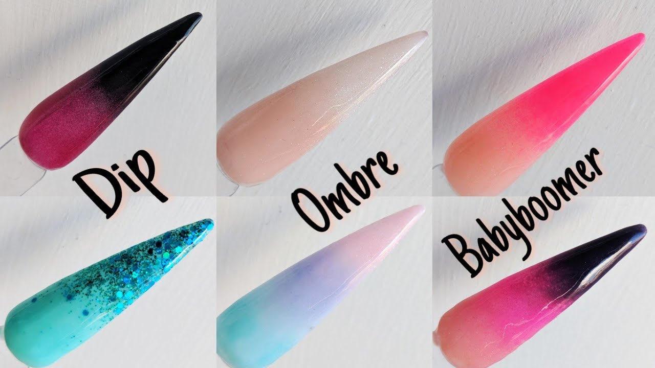 Dip - Ombre - Baby Boomer Nails - YouTube