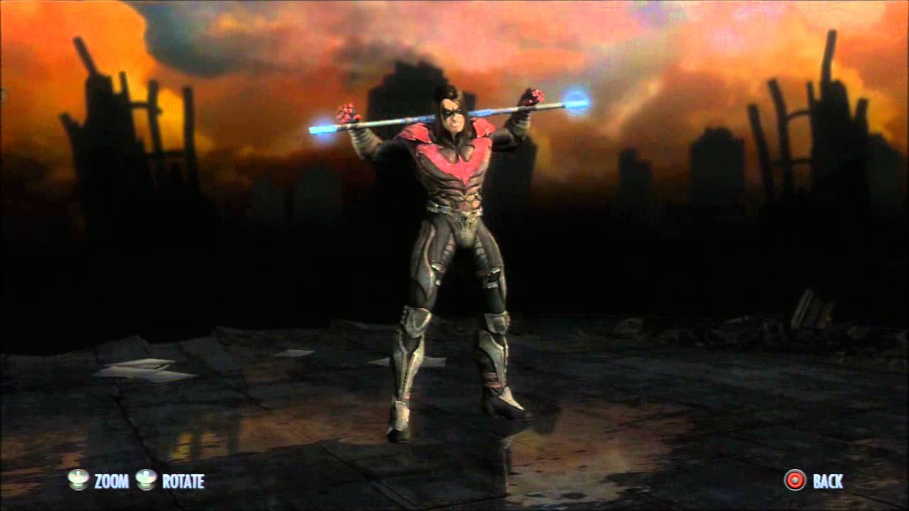 Injustice Gods Among Us Nightwing Regime Skin Character