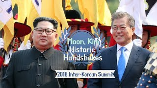 [ENG 연합뉴스] 남북 정상의 역사적 만남 (Handshakes, Inter-Korean summit)