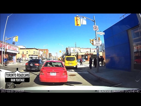 Driving in Toronto - Sunday Afternoon Drive on Bloor St West - March 2017 - Front Dash Cam