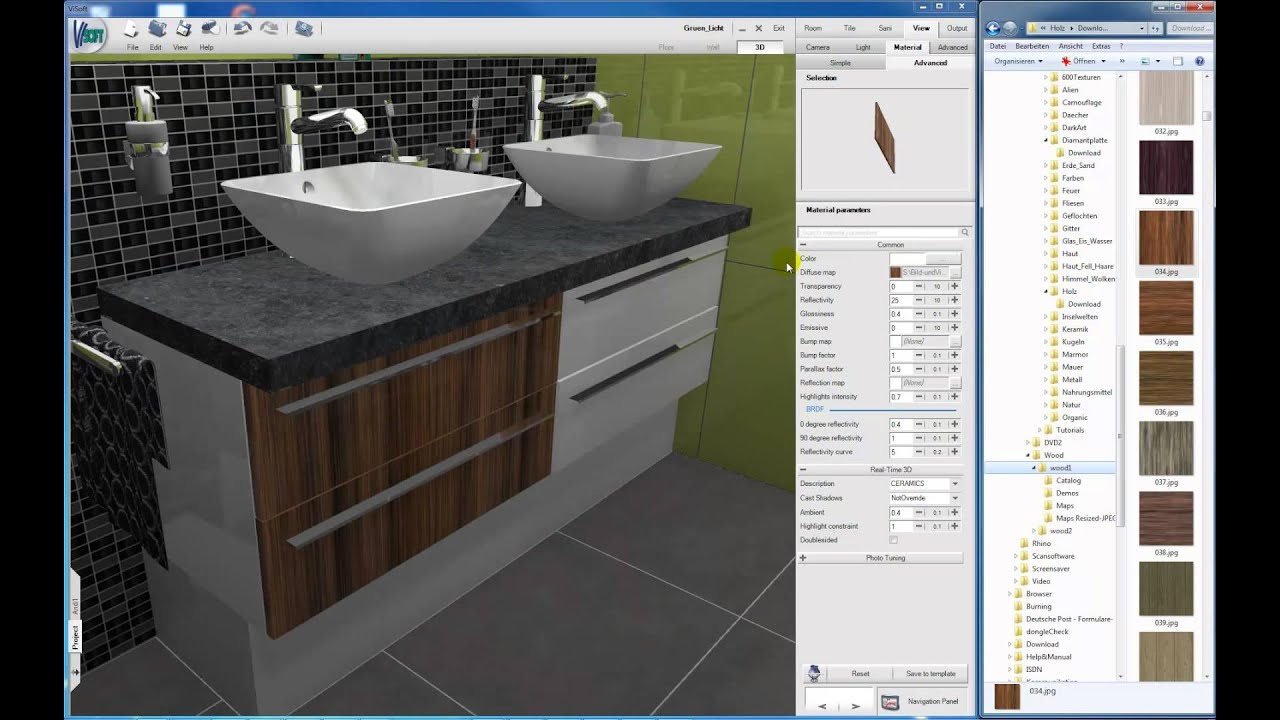 En light objects into visoft premium 3d rendering software fliesen und sanitär planung