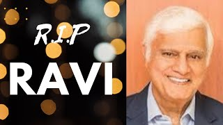 Ravi Zacharias Dies At Age 74 | RIP - THANK YOU For Everything You Did For Me!