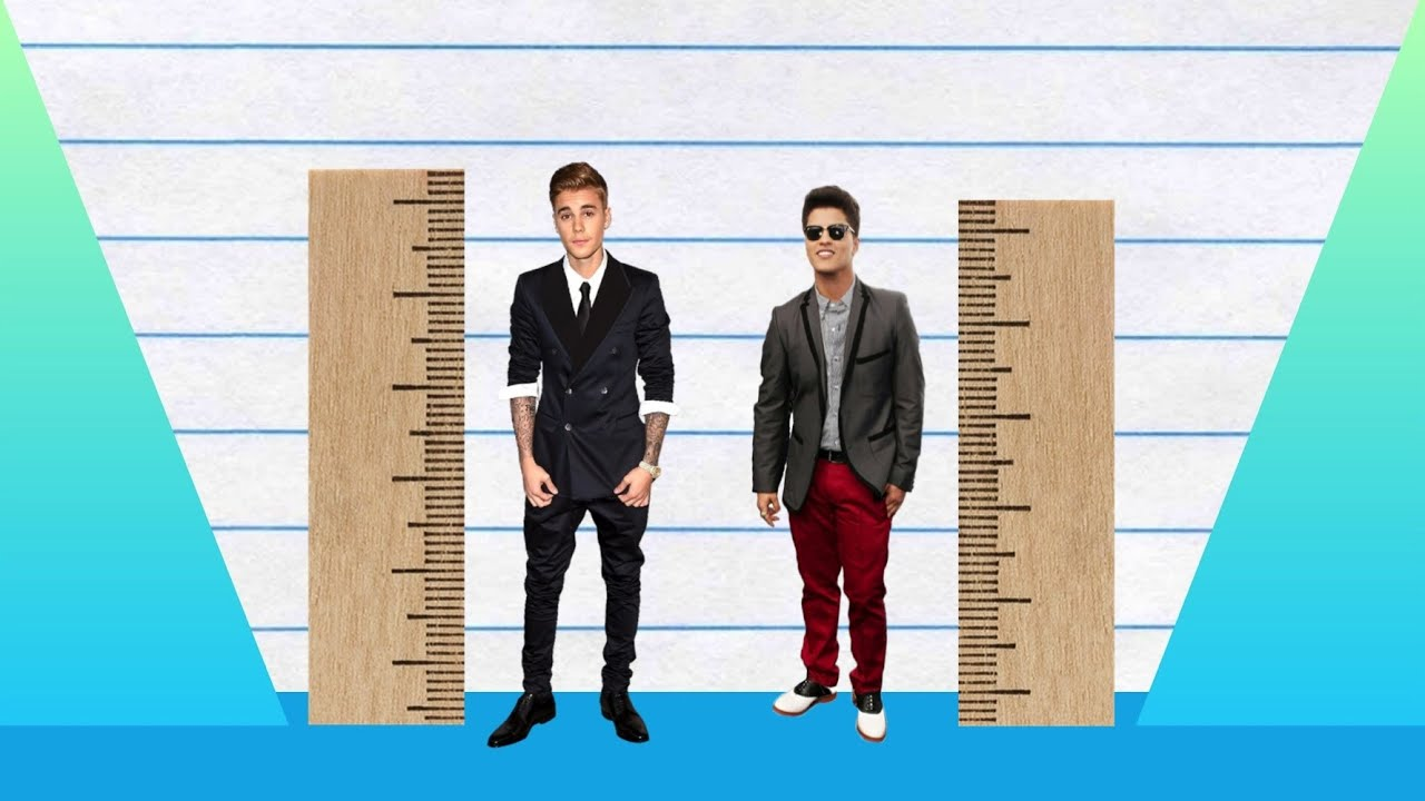 Bruno Mars And Justin Bieber How Much Taller? - Jus...