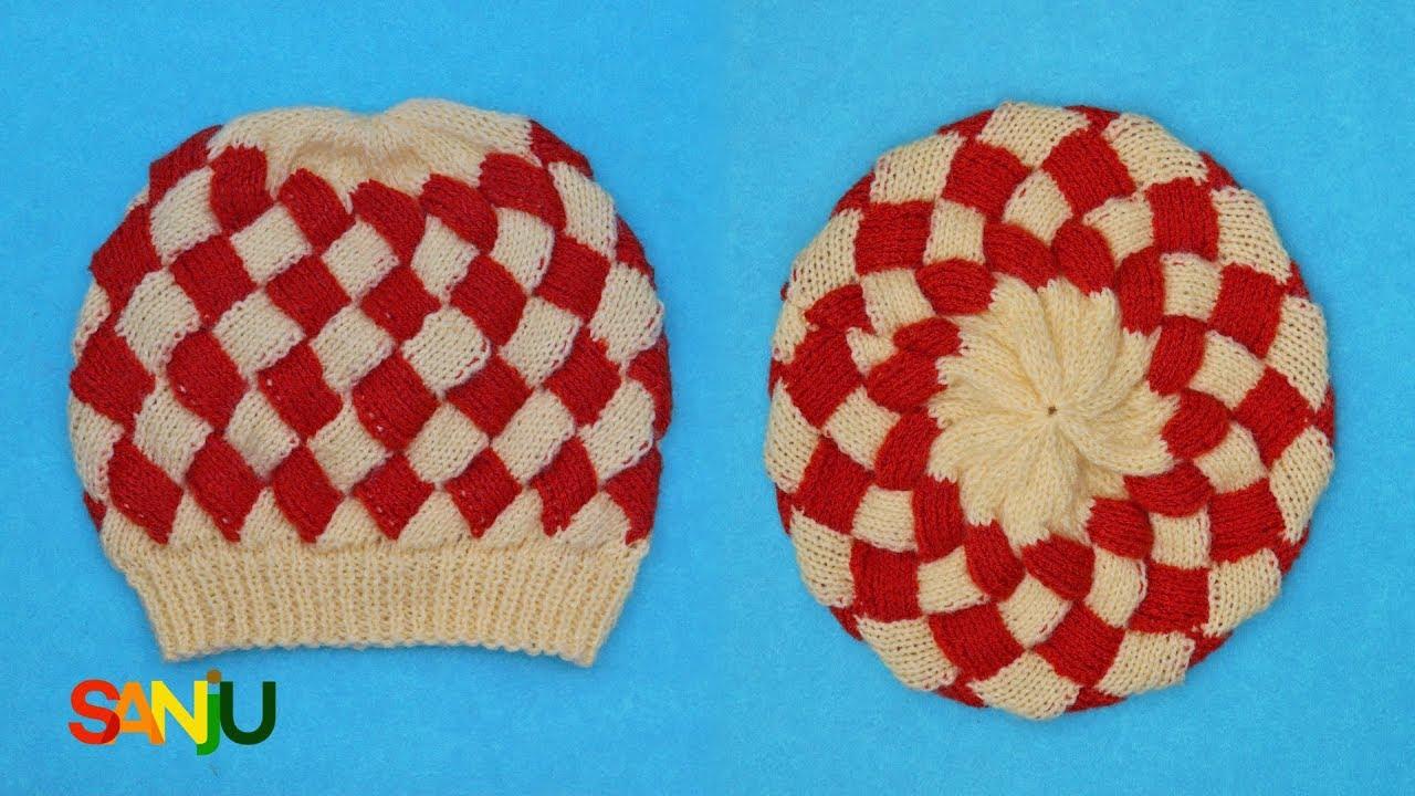 Interlock knitting Cap design - YouTube