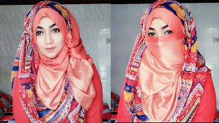 Easy Niqab Tutorial for Occasions and Party special | Pari ZaaD