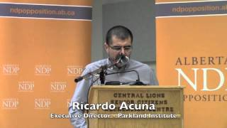 Ricardo Acuna - Parkland Institute - Making Life Affordable - NDP Pre-budget Community Meeting
