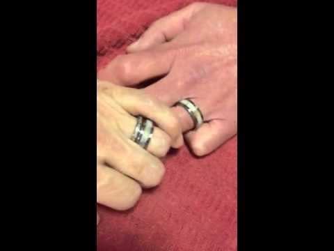 Tungsten Deer Antler Wedding Rings Review YouTube
