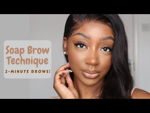 Soap Brow Method For Fluffy Brows - I Did My Brows In 2 Minutes !