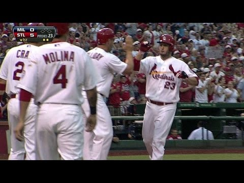 MIL@STL: Freese crushes a grand slam in the first