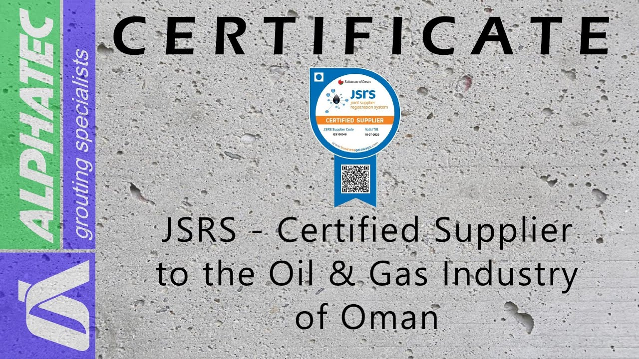Certified supplier to the Oil & Gas Industry of Oman