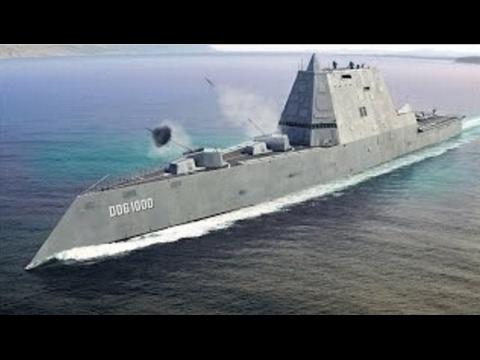 SUPER ADVANCED US Navy DDG 1000 Zumwalt Class STEALTH Destroyer