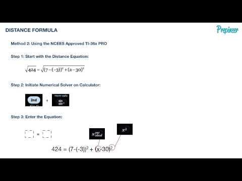 DISTANCE FORMULA - TI-36X PRO FE Exam Prepineer Calculator Workshop
