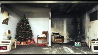 Candle and Tree Fire Lab Footage
