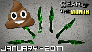 ROBLOX - Gear of the Month! - January 2017 - BEST THROWING KNIVES