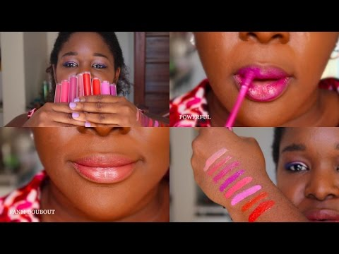 *Swatch for you * Collection vinyl Lip Lacquer Djulicious