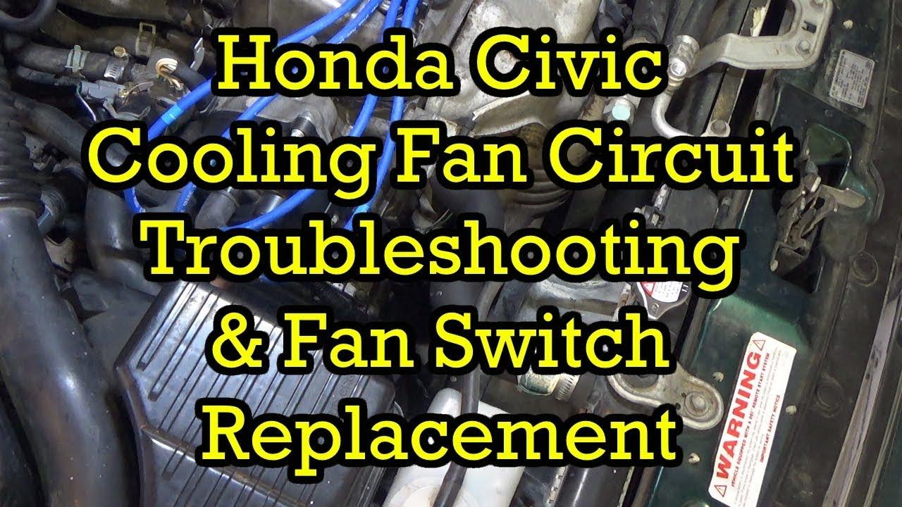 1991 honda civic cooling fan wiring