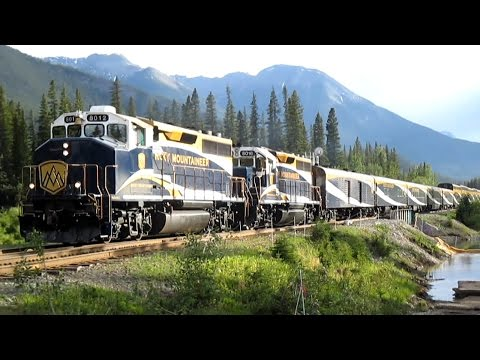 CP and Rocky Mountaineer in Calgary and Banff, Alberta - June 2015