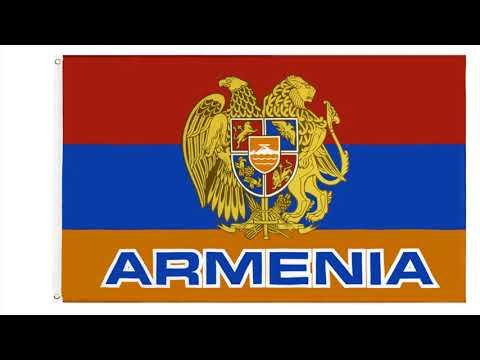 Флаг Армении с гербом 90x150см