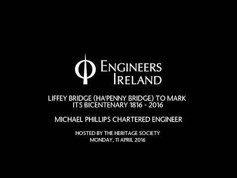 LIFFEY BRIDGE (HA'PENNY BRIDGE) TO MARK  ITS BICENTENARY 1816 - 2016