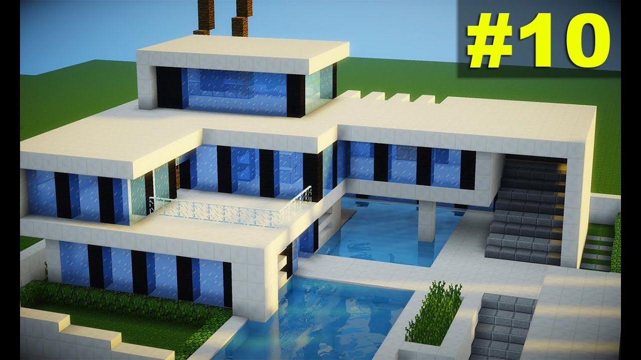Minecraft top 10 casas modernas 2016 download youtube for Casa moderna y grande en minecraft