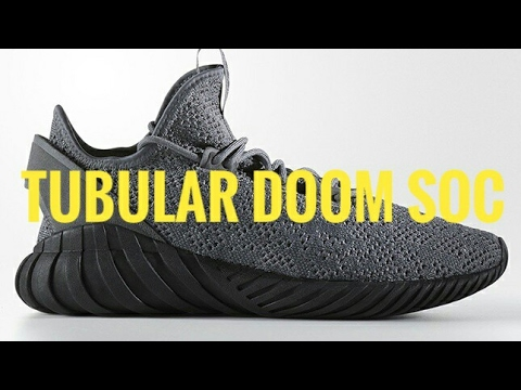 Cheap Adidas Tubular Doom Primeknit Shoes BY3550 In Core Black/Tech Ink