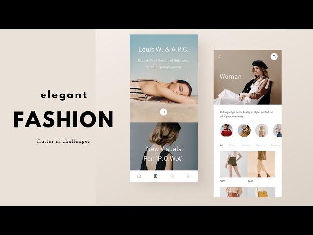 FlutterUI - Clean Designs - Mobile shopping