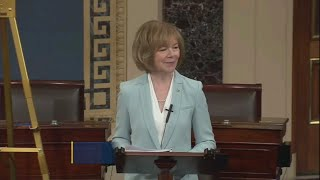 Tina Smith Gives 1st Speech On Senate Floor