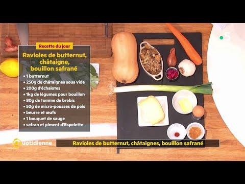 recette-:-ravioles-de-butternut,-châtaignes,-bouillon-safrané-du-chef-ruben-sarfati---la-quotidienne