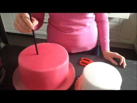 How to make a two tier cake tutorial / Jak zrobić tort dwupiętrowy