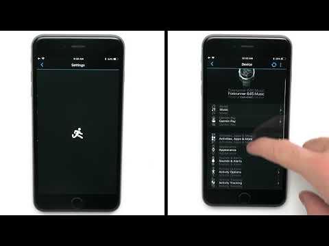 Setting up Wi-Fi® via Garmin Connect™ Mobile