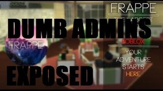 ROBLOX Frappe/Starbucks Exposing Admins