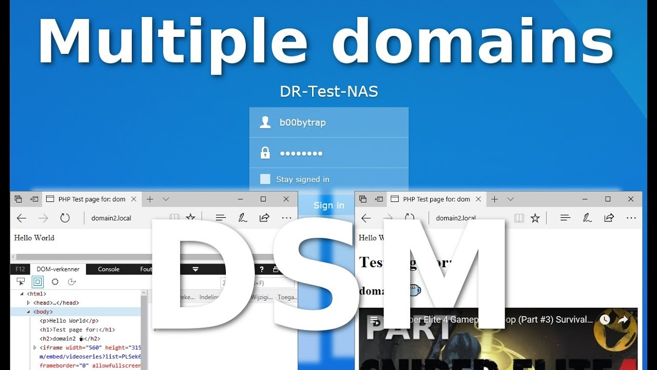 Multiple domains on Synology's DSM 6 x