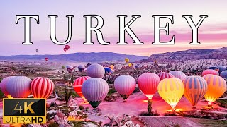 FLYING OVER TURKEY (4K UHD)  Relaxing Music With Stunning Beautiful Nature (4K Video Ultra HD)