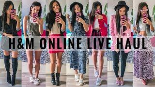H&M ONLINE TRY ON LIVE HAUL + Outfit Ideen | Ihr bestimmt, was ich kaufen muss!