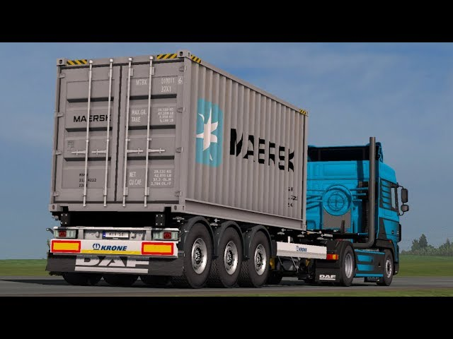 [1.33] Euro Truck Simulator 2 | Real Company Container Trailers | Mods