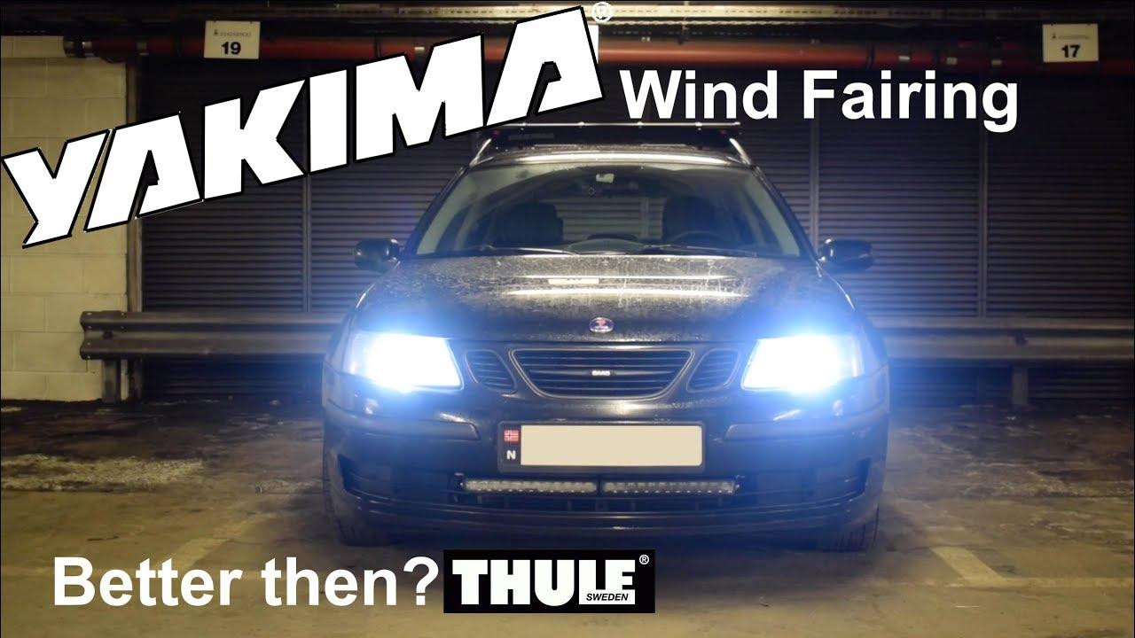 Yakima Wind Fairing On My Saab Roof Rack Better Then Thule Youtube