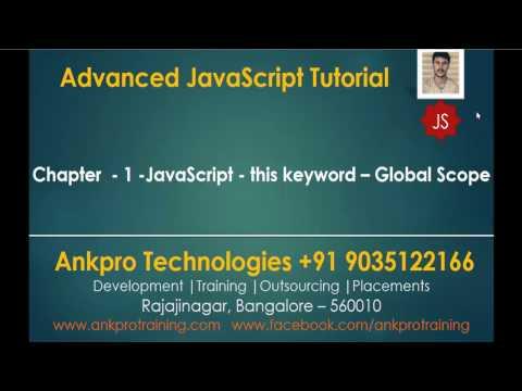 Advanced JavaScript - Chapter 1 - JavaScript - this keyword