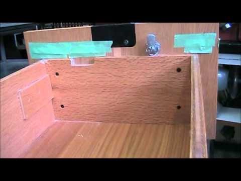 Install Simple Swing Cam Lock In Wood File Cabinet Drawer