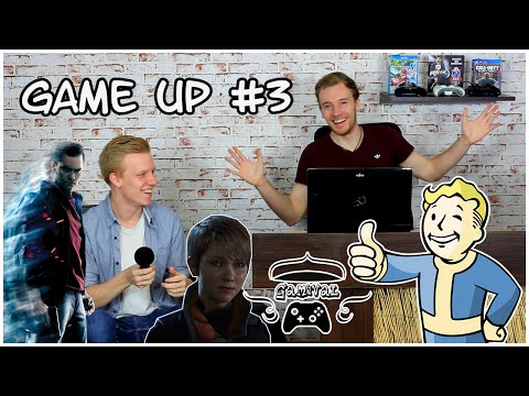 Game Up #3 ★ News | Gamival | Quantum Break & Detroit Become Human Preview/Gameplay
