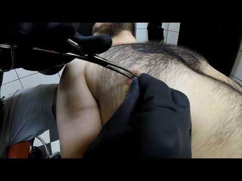 Nipple piercing - Dirty Roses Tattoo Studio - Thessaloniki - (1080p)