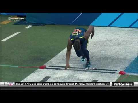 John Ross Breaks Chris Johnson's 40 Yard Dash Combine Record HD